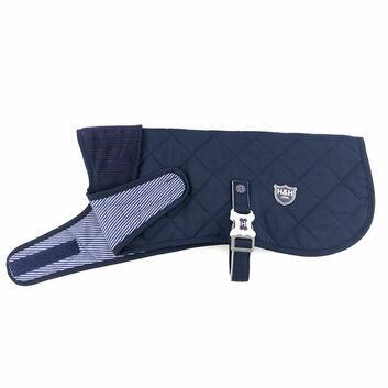 Hugo & Hudson Quilted Jacket Navy Blue