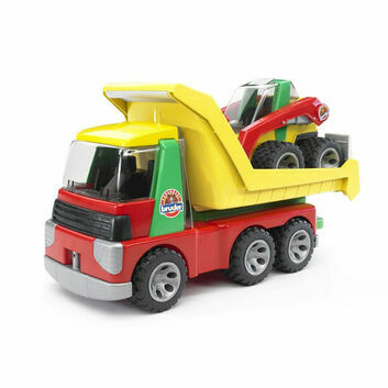 Bruder ROADMAX Transporter with Skid Steer Loader 1:16
