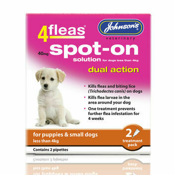 Johnson\'s Veterinary 4Fleas Spot-On For Puppies