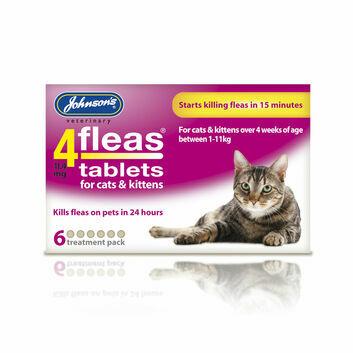 Johnson's Veterinary 4Fleas Tablets For Cats & Kittens