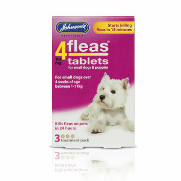 Johnson's Veterinary 4Fleas Tablets For Puppies & Small Dogs