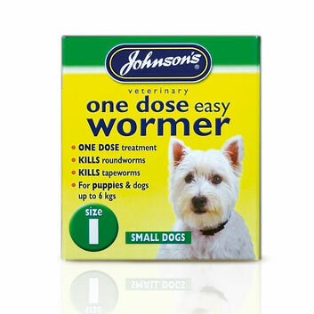 Johnson's Veterinary Easy Wormer One Dose For Dogs Size One