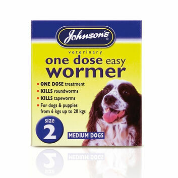 Johnson\'s Veterinary Easy Wormer One Dose For Dogs Size Two