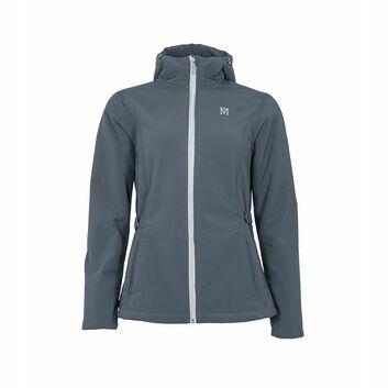 Mark Todd Jacket Softshell Fleece Lined Ladies Grey/Silver