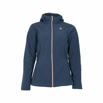 Mark Todd Jacket Softshell Fleece Lined Ladies Navy/Rose