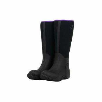 Mark Todd Neoprene Yard Boots Black/Purple
