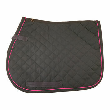 Mark Todd Piped Saddlepad Navy/Pink