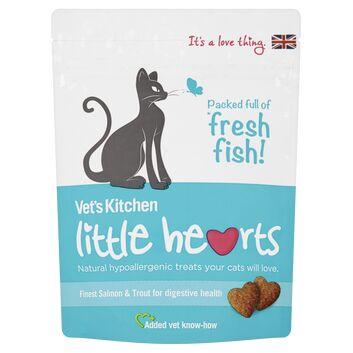 Vet\'S Kitchen Little Hearts Cat Treats Salmon