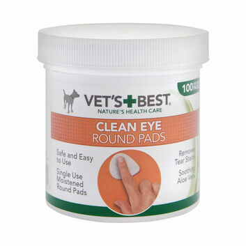 Vets Best Clean Eye Round Pads