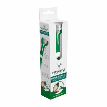 Vets Best Triple Headed Toothbrush For Dogs
