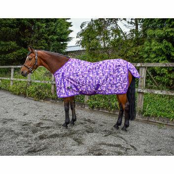 W-Horse Turnout Rug Lightweight Finn 50 Gm Purple Camo