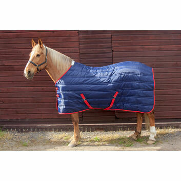 Whitaker Stable Rug Thomas 250G Navy/Red