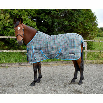Whitaker Turnout Rug Lightweight Lydgate 0 Gm Blue Check