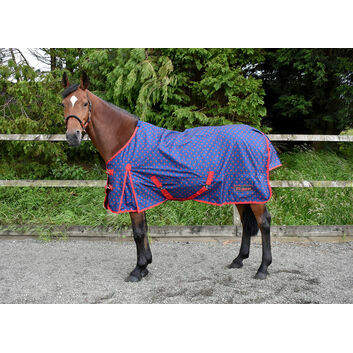 Whitaker Turnout Rug Lightweight Lydgate 0 Gm Navy/Red Dot