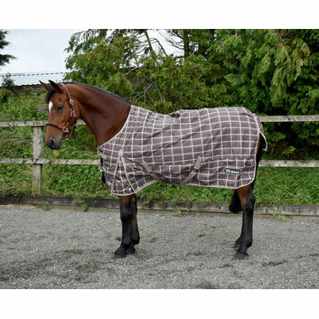 Whitaker Turnout Rug Lightweight Lydgate 0 Gm Walnut Check