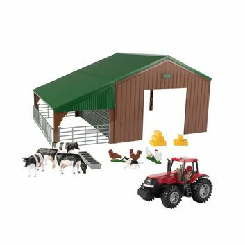 Britains Farm Building Set with Case Tractor 1:32
