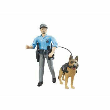 Bruder Bworld Policeman With Dog 1:16