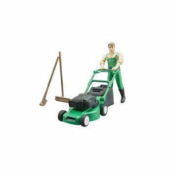 Bruder bworld Gardener with lawn mower and equipment