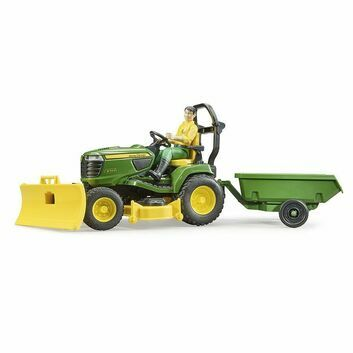 Bruder Bworld John Deere X949 Lawn Tractor with Trailer and Gardener 1:16