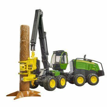 Bruder John Deere 1270G Harvester With Tree Trunk 1:16