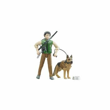 Bruder BWorld Forest Ranger with dog and equipment 1:16