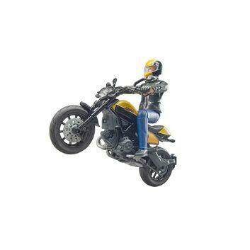 Bruder bworld Scrambler Ducati Full Throttle with driver 1:16