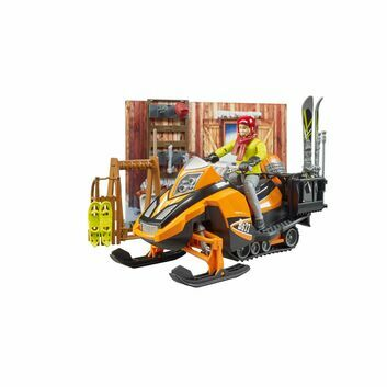 Bruder Bworld Mountain hut with snowmobile 1:16