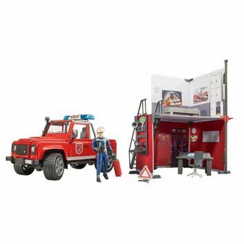 Bruder Fire station with Land Rover Defender