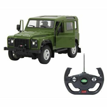 Jamara Remote Control Land Rover Defender Green Door Manual 1:14