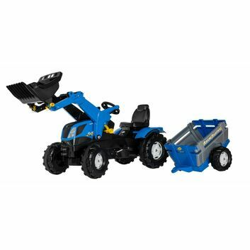 Rolly Farmtrac New Holland Ride-On Tractor with Front Loader and Trailer