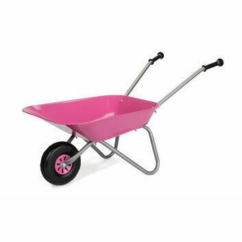 Rolly Metal Children's Wheelbarrow Pink