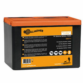 Gallagher Powerpack 9V Energiser Battery - 160Ah