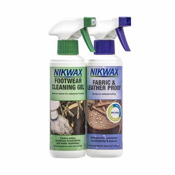 Nikwax Footwear Cleaning Gel/Fabric & Leather Proof Spray