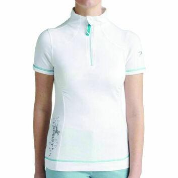 Tottie Polo Shirt Maven Zipped White