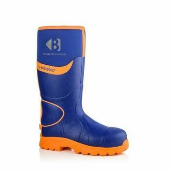 Buckler Buckbootz S5 BBZ8000BLOR Blue & Orange Safety Wellington Boots
