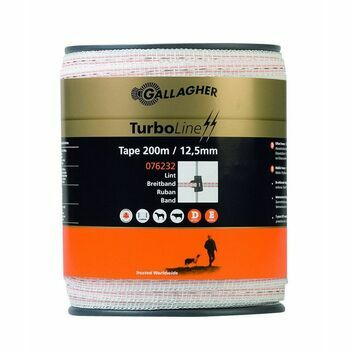 Gallagher TurboLine 12.5mm Electric Fencing Tape - 200m