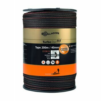 Gallagher TurboStar 40mm/200m Electric Fencing Tape (Brown)