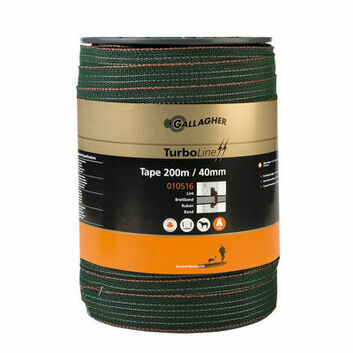 Gallagher TurboStar 40mm Green Tape - 200m