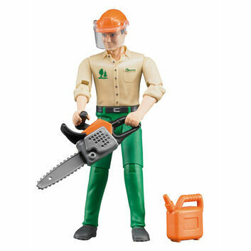 Bruder BWorld Forestry Worker with Accessories 1:16