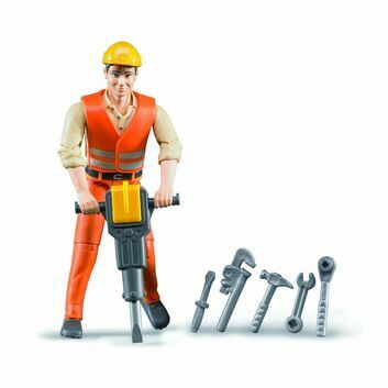 Bruder Construction Worker with Tool Accessories 1:16