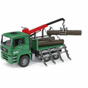 Bruder MAN TGA Timber Truck with Loading Crane and 3 Trunks  1:16