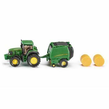 Siku John Deere Tractor with Baler 1:87