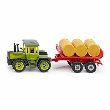 Siku MB-Trac Tractor with trailer for bales 1:87