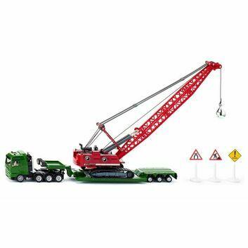 Siku MAN Heavy Haulage Transporter with Excavator and Service Vehicle 1:87