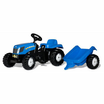 Rolly Kid New Holland NH T7040 Tractor Pedal Ride-On & Trailer