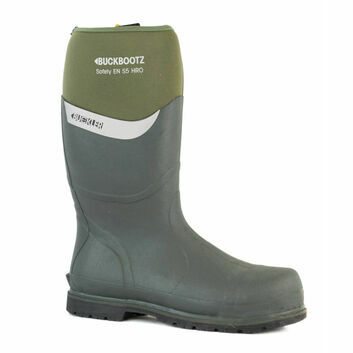 Buckler Buckbootz S5 BBZ6000GR Green Safety Wellington Boots