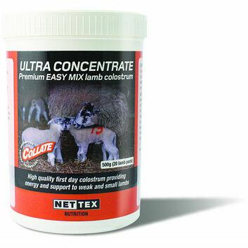 Nettex Collate Ultra Concentrate Premium Lamb Colostrum 500g (20 Lamb Pack)