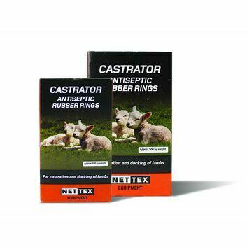 NETTEX Livestock Castration Rings - 500 Pack