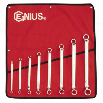 Genius Tools Metric Offset Ring Spanner Set