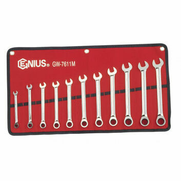 Genius Tools Metric Combination Ratchet Spanner Set